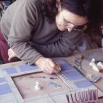 Angela Evans making a mirror