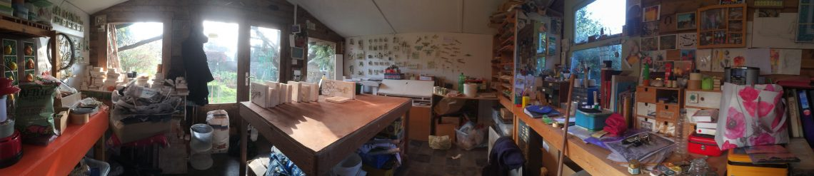 Angela Evans shed panorama