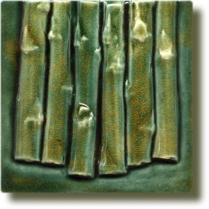 Angela Evans Asparagus double tile bottom