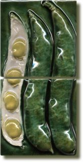 Angela Evans Broad Bean double tile