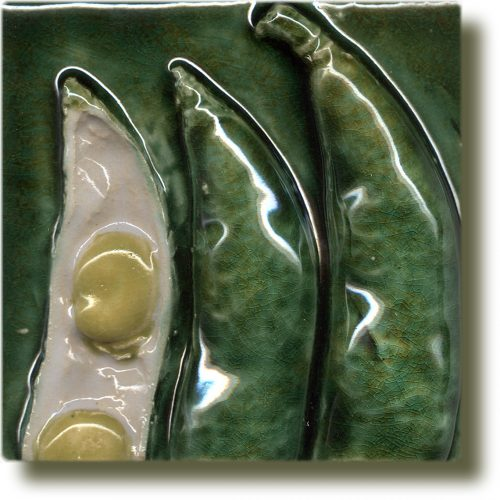 Angela Evans Broad Bean double tile top