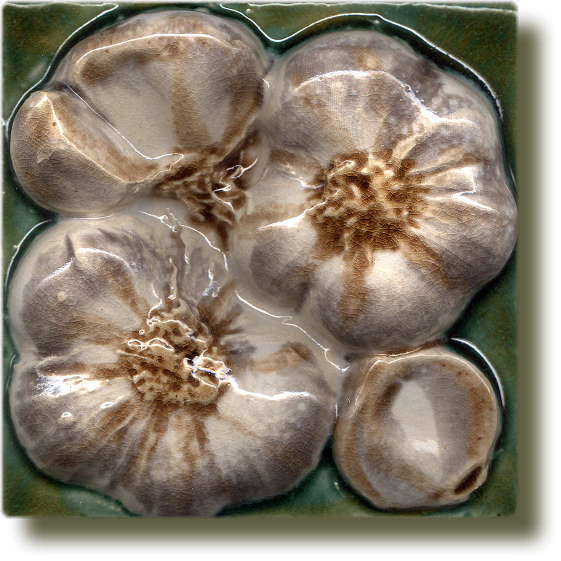 Angela Evans Garlic tile