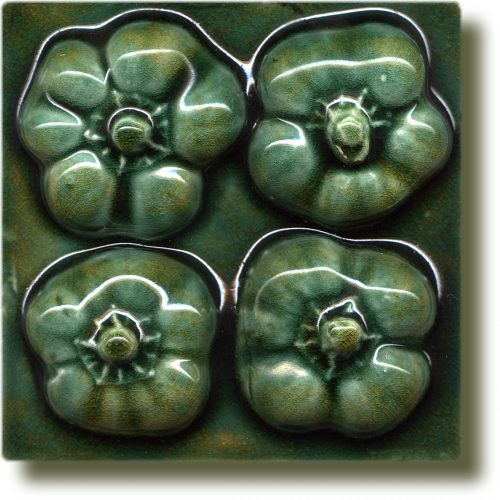 Angela Evans Green Baby Pepper tile