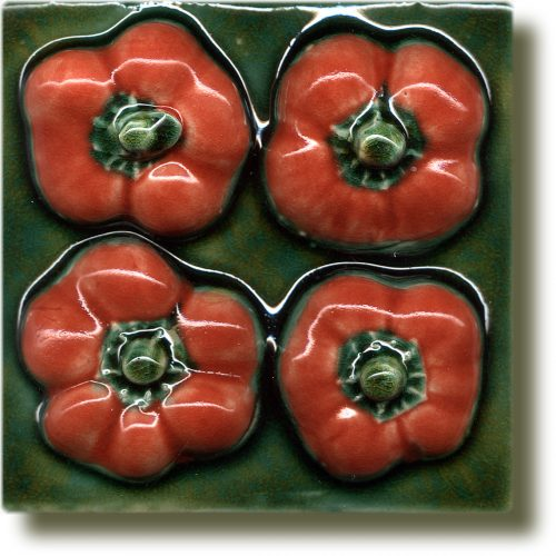 Angela Evans Red Baby Pepper tile
