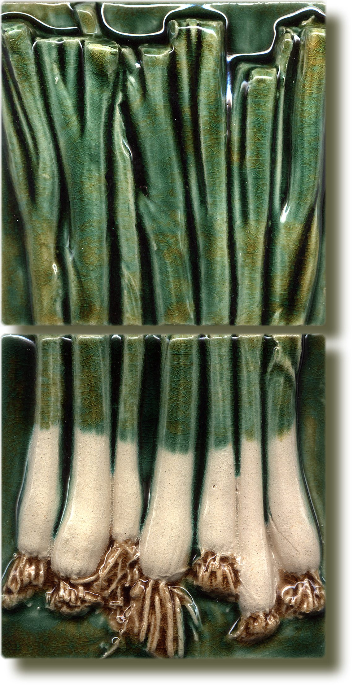 Angela Evans Spring Onion double tile