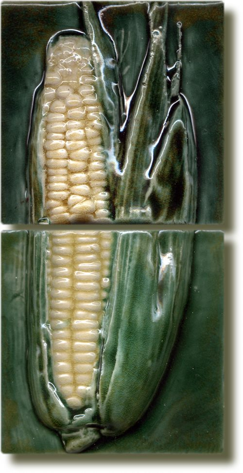 Angela Evans Sweetcorn double tile