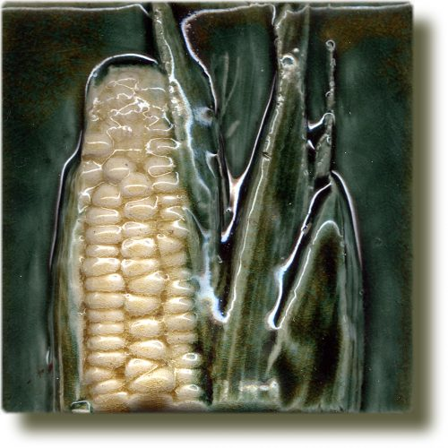 Angela Evans Sweetcorn double tile top