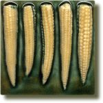 Angela Evans Sweetcorn tile
