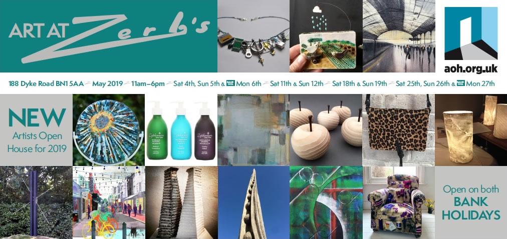 Art at Zerbs flyer